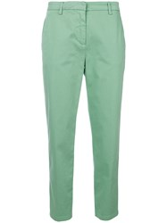 Department 5 Cropped Trousers Green