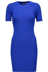 Alexander Wang T By Ribbed Stretch Jersey Mini Dress Cobalt Blue
