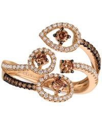 Le Vian Chocolatier Chocolatier Diamond Bypass Statement Ring 5 8 Ct. T.W. In 14K Rose Gold