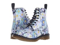 Dr. Martens Pascal 8 Eye Boot Purple Paint Slick Backhand Women's Lace Up Boots White