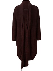 Daniel Andresen Draped Front Cardi Coat Red