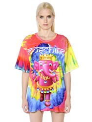 Moschino Tie Dye Print Jersey T Shirt Dress