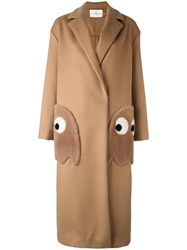 Anya Hindmarch 'Ghosts' Coat Brown