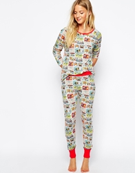 Cath Kidston Cops And Robbers Nightwear Leggings Copsandrobbers