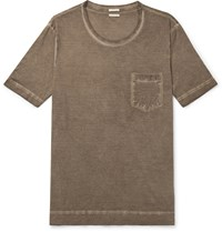 Massimo Alba Panarea Watercolour Dyed Cotton Jersey T Shirt Neutrals