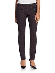 Joe's Jeans Inline Checkered Skinny Jeans Coated Plaid
