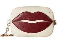 Charlotte Olympia Pouty Shoulder Purse Off White Wallet Handbags