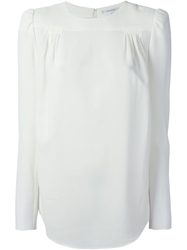 Carven Padded Shoulders Lightweight Blouse White