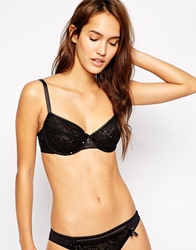 Marie Meili Coraline Sequin Underwired Bra Black