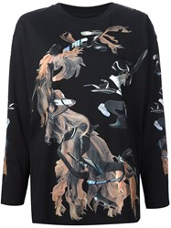 Maison Martin Margiela Mm6 Printed Sweatshirt Black