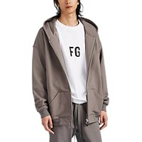 Fear Of God Cotton French Terry Oversized Hoodie Gray