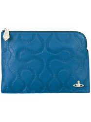 Vivienne Westwood Red Label Zipped Rectangular Clutch Blue