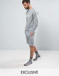 Boss By Hugo Side Logo Lounge Shorts Grey