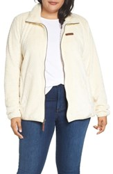 Columbia Plus Size Fireside Ii Fleece Jacket Light Bisque