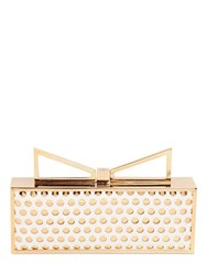 Sara Battaglia Lady Me Perforated Leather Clutch