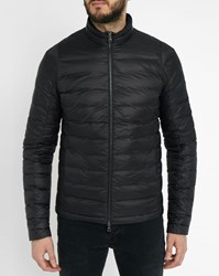 Ikks Black Quilted Light Down Jacket