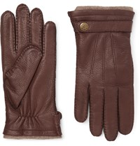Dents Gloucester Cashmere Lined Leather Gloves Brown