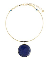 Nakamol Statement Lapis Choker Necklace Multi