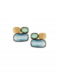 Marco Bicego Murano Topaz And Tourmaline Button Earrings