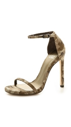 Stuart Weitzman Nudist Single Band Sandals Tan Camouflage