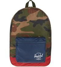 Herschel Supply Co Packable Daypack Backpack Woodland Camo Navy Red