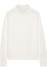 Line Elisa Open Back Cashmere Turtleneck Sweater White