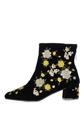 Topshop Blossom Embroidered Boots Yellow