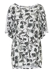Betty Barclay Floral Print Tunic Top Grey