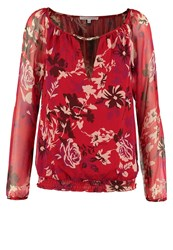 Patrizia Pepe Blouse Red Flowers