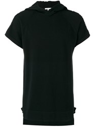 Helmut Lang Short Sleeve Hoodie Men Cotton Polyester M Black