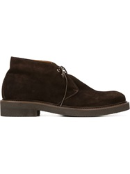 Eleventy Classic Lace Up Shoes Brown