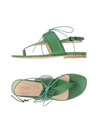 Armani Collezioni Footwear Thong Sandals Women Green