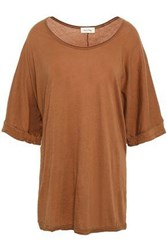 American Vintage Woman Supima Cotton Jersey Top Light Brown
