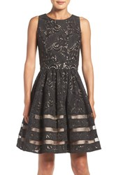 Eliza J Women's Cotton Blend Fit And Flare Dress