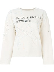 Enfants Riches Deprimes Logo Print Sweatshirt Nude And Neutrals