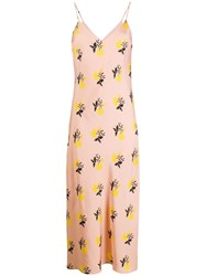 Essentiel Antwerp Floral Print Slip Dress Pink