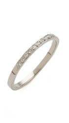 Blanca Monros Gomez 10 Diamond Band Ring White Gold White