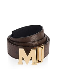 Mcm Claus Reversible Belt Chocolate