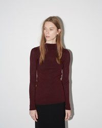 Isabel Marant Zasha Thin Ribbed Knit Burgundy