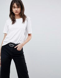 Selected Tshirt With Double Layer Back White