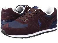 Polo Ralph Lauren Slaton Pony Oxblood Newport Navy Men's Lace Up Casual Shoes Burgundy