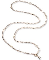 Carolee Brown Tone Pave Bead And Colored Imitation Pearl Convertible Strand Necklace Md Brown