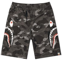A Bathing Ape Colour Camo Side Shark Beach Pant Black