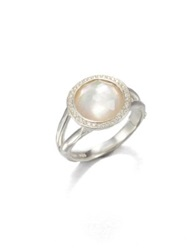 Ippolita Stella Mother Of Pearl Clear Quartz Diamond And Sterling Silver Mini Lollipop Ring Silver Pearl
