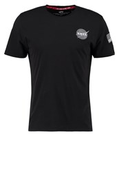 Alpha Industries Space Shuttle Print Tshirt Black