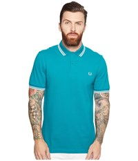 Fred Perry Twin Tipped Shirt Fanfair Porcelain Men's Short Sleeve Knit Fanfair Porcelain