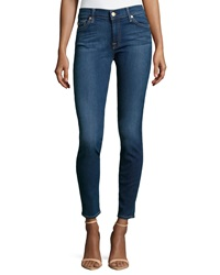 7 For All Mankind Gwenevere Skinny Jeans Verona Medium Bright Blue