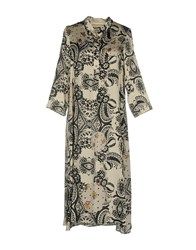 Shirtaporter Knee Length Dresses Ivory