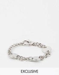 Chained And Able Coin Link Bracelet Silver
