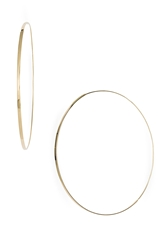 Lana 'Large Flat Magic' Hoop Earrings Yellow Gold